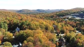 vista laterale : Aerial view of some rural fall color landscape at Quebec, Canada