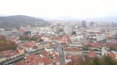 quedas : Aerial view of the Ljubliana cityscape at Slovenia