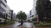 sciences : Los Angels, FEB 7: Building of LAC USC Medical Center in a raining day on FEB 7, 2019 at Los Angeles, California