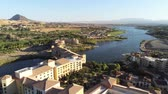 gerçek insanlar : Aerial view of the beautiful landscape and building along the Lake Las Vegas at Nevada