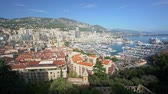 見落とす : Aerial view of the cityscape with many residence and roof at Monaco