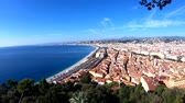 melek : Aerial morning view of the famous Angels Bay with downtown cityscape, Nice at France
