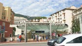 gare : Monaco, OCT 21: Exterior view of the Gare de Monaco station on OCT 21, 2018 at Monco