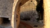 french culture : Walking towards the entrance to the Eze Village near Nice, France