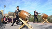 regata : Las Vegas, OCT 13: Japanese Taiko drum performance in the famous Rose Regatta Dragon Boat Festival on OCT 13, 2018 at Las Vegas, Nevada