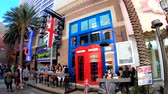 fish and chips : Las Vegas, OCT 12: Exterior view of the Gordon Ramsays Fish and Chips restaurant on OCT 12, 2018 at Las Vegas, Nevada