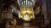 Írország : Dublin, OCT 28: Interior view of the famous St Patricks Cathedral on OCT 28, 2018 at Dublin, Ireland Stock mozgókép