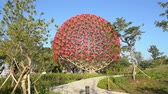 site : Taichung, DEC 22: The famous Machine flower of Taichung World Flora Exposition on DEC 22, 2018 at Taichung, Taiwan