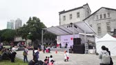 arranha céus : Taipei, DEC 17: Exterior of the Huashan 1914 Creative Park area with Japanese culture event ongoing on DEC 17, 2018 at Xinyi District, Taipei, Taiwan