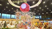 pavilion : Taichung, DEC 22: Interior view of the Blossom Pavilion of Taichung World Flora Exposition on DEC 22, 2018 at Taichung, Taiwan Stock Footage