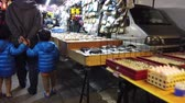 township : Yuanli, DEC 27: Walking in the night market of Yuanli Township on DEC 27, 2018 at Yuanli, Taiwan Stock Footage