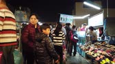 family business : Yuanli, DEC 27: Walking in the night market of Yuanli Township on DEC 27, 2018 at Yuanli, Taiwan Stock Footage