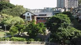 beitou hot spring : Taipei, JAN 5: Exterior view of the  Beitou Hot Spring Museum on JAN 5, 2019 at Taipei Stock Footage