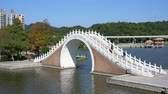 čínská čtvrť : Afternoon view of the Moon Bridge in Dahu Park at Taipei, Taiwan