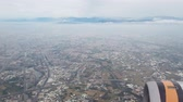 flugzeugfenster : Aerial view of the Taichung city cityscape form a window seat at Taiwan