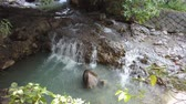 molas : The hot spring river of Beitou area at Taipei, Taiwan Stock Footage