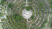 Aerial view of a Buddha circle around Seven-star Crags Scenic Area at Zhaoqing, China Stock Footage