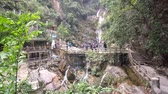 Beautiful canyon and waterfall landscape around Dinghu Mountain National Nature Reserve at Zhaoqing, Guangdong, China