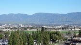 california : Aerial view of Loma Linda cityscape at California Stock Footage