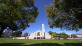 kaliforniya : Los Angeles, MAR 20: Church of the Loma Linda University on MAR 20, 2019 at Los Angeles, California Stok Video