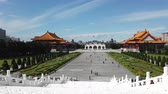 concertgebouw : Taipei, JAN 4: Archway, National Concert Hall time lapse of the Chiang Kai-shek Memorial Hall at JAN 4, 2019 at Taipei Stockvideo