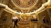 benátský : Las Vegas, APR 28: Interior view of the famous Venetian casino hotel on APR 28, 2019 at Las Vegas, Nevada