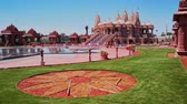 chino : Exterior view of the famous BAPS Shri Swaminarayan Mandir at Chino Hills, California