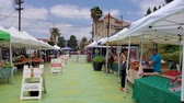 dobrý : Los Angeles, JUN 22: Flea market on Sunset Triangle Plaza on JUN 22, 2019 at Los Angeles, United States