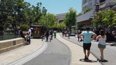 Glendale, JUN 30: Afternoon view of the famous Americana at Brand shopping mall on JUN 30, 2019 at Glendale, Los Angeles County, California Wideo