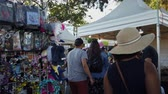 Los Angeles, JUL 13: Many vendors in the Lotus Festival Echo Park on JUL 13, 2019 at Los Angeles, California