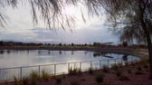 gerçek zamanlı : Beautiful landscape around Centre Park of Henderson at Nevada