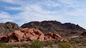 gerçek zamanlı : Beautiful landscape around Lake Mead National Recreation Area at Nevada Stok Video