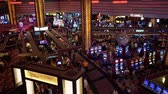 las vegas strip : Las Vegas, SEP 21: Interior view of the Planet Hollywood Casino on SEP 21, 2019 at Las Vegas, Nevada Stock Footage