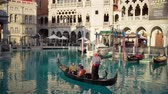 veneziano : Las Vegas, SEP 25: People rowing boat in front of the Venetian Casino Hotel on SEP 25, 2019 at Las Vegas, Nevada