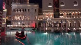 las vegas strip : Las Vegas, SEP 25: Night exterior view of the Venetian Casino Hotel on SEP 25, 2019 at Las Vegas, Nevada