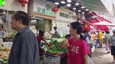 travel : Hong Kong, OCT 17: Morning view of the traditional market on OCT 17, 2019 at Sha Tin, Hong Kong, China