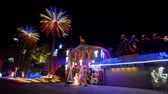 weihnachtszeit : Christmas lights, decoration of a house at Las Vegas, Nevada Videos