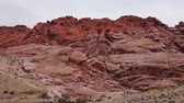 nevada : Cloudy day in the famous Red Rock Canyon at Nevada