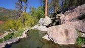 Beautiful landscape of Spence Hot Springs at New Mexico Stok Video