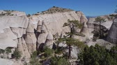 Sunny view of the famous Kasha Katuwe Tent Rocks National Monument at New Mexico