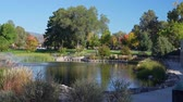 sjednocený : Morning view of the Ashley Pond Park at Los Alamos, New Mexico