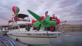 lagos : Nevada, DEC 14: Christmas boat display in the Lake Mead on DEC 14, 2019 at Nevada