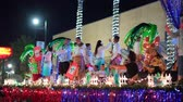 exteriors : Henderson, DEC 14: Night view of the WinterFest parade on DEC 14, 2019 at Henderson, Nevada