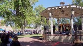 bant : Albuquerque, OCT 5: Band performance of music in a Kiosk on OCT 5, 2019 at Albuquerque, New Mexico