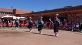 zenci amerikalı : Albquerque, OCT 5: People dancing in traditional Zuni Culture performance on OCT 5, 2019 at Albquerque, New Mexico