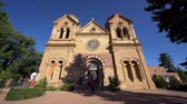 Santa Fe, OCT 6: Exterior view of the The Cathedral Basilica of St. Francis of Assisi on OCT 6, 2019 at Santa Fe, New Mexico