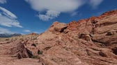 山頂 : Sunny day in the famous Red Rock Canyon at Nevada 動画素材