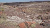 Beautiful landscape of Petrified Forest National Park at Arizona Stok Video