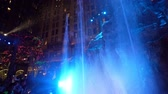 távozás : Las Vegas, DEC 12: Interior view of the Sams towns Mystic Falls Park waterfall show on DEC 12, 2019 at Las Vegas, Nevada Stock mozgókép