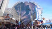 travel : Las Vegas, Jan 25: Afternoon view of the famous Fremont Street on JAN 25, 2020 at Las Vegas, Nevada